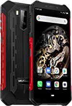 Cellulare Antiurto, Ulefone Armor X5 Rugged smartphone 4G Android 9.0, 3GB+32GB, Batteria 5000mAh, 5.5 Pollici HD+ Smartphone IP68, Fotocamera 13MP e 5MP, Dual sim, Face ID/NFC/GPS/Bussola-Rosso