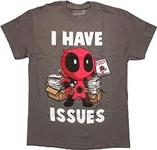 Marvel Deadpool I Have Issues Comics T-Shirt, XL