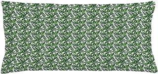 4 Piezas 18X18 Pulgadas Funda De Cojín De Almohada De Tiro Verde De La Selva,Varias Plantaciones De Bosques Follaje Paraíso Verde,Decoración De Hogar Funda De Almohada Decorativa Rectangular