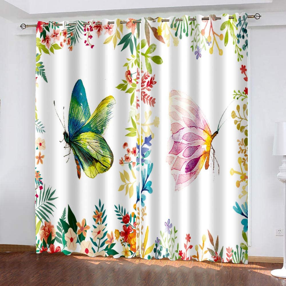3D Eyelet Very popular! Manufacturer regenerated product Curtain Flower Polyeste Curtains Blackout Butterfly