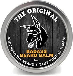 Badass Beard Care Beard Balm For Men - The Original Scent, 2 Ounce - All Natural Ingredients, Soften Hair, Hydrate Skin to...