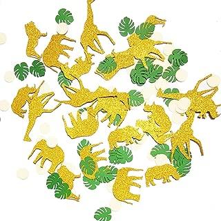 Gold Glitter Jungle Safari Animal Confetti Zoo Boy Baby Shower Party  Birthday Supplies Decorations Table Decor(100 pcs)