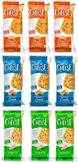 Just the Cheese Bars Assortment 9 Pack, Low Carb, 100% Cheese, All Flavors: Grilled Cheese, Aged Cheddar, Jalapeno