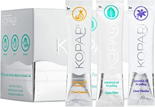Kopari Coconut Oil Pullers Natural Teeth Whitening Pack of 14 (One Box) Flavor: Coco Collection - Mint, Pina Colada, Vanilla
