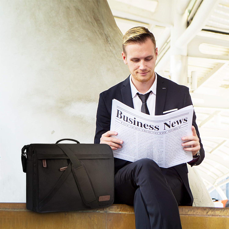KROSER 15.6 Laptop Briefcase Water-Repellent Laptop Messenger Bag Light-Weight Laptop Bag Business Shoulder Bag for School//Business//Women//Men