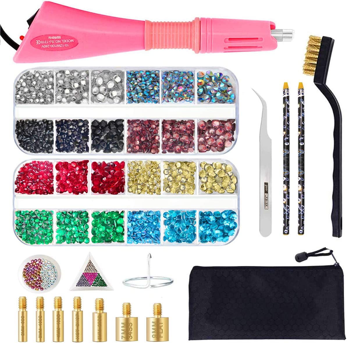 2021 spring and summer new Ranking TOP14 Hotfix Applicator Tool Bedazzler Kit Hot with Fix DIY Rhineston