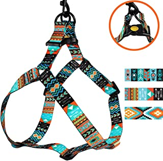 CollarDirect Adjustable Dog Harness Tribal Pattern Step-in Small Medium Large, Comfort Harness for Dogs Puppy Outdoor Walking