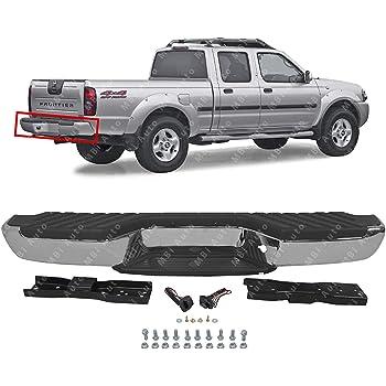 Amazon Com Mbi Auto Steel Chrome Complete Rear Bumper Assembly For 1998 1999 2000 2001 2002 2003 2004 Nissan Frontier Ni1102136 Automotive