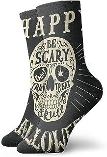 Hunter qiang, Calcetines, mujeres y hombres calcetines, grabado a mano con un cráneo. Bonitos o salsas, calcetín de deporte Boo de 30 cm.