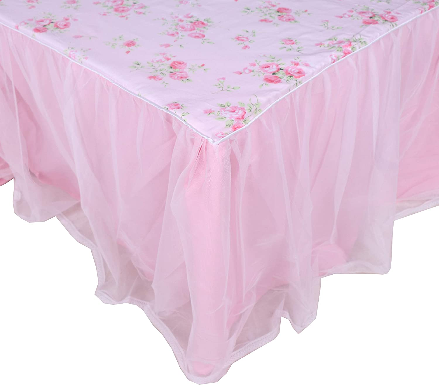 Max 2021new shipping free shipping 53% OFF LELVA Dust Ruffled Bed Skirts Queen Lace Wrap Ru Around Size