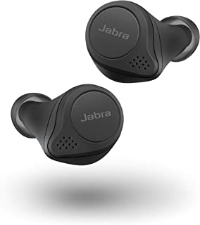 Jabra Elite 75t Black Voice Assistant Enabled True Wireless Earbuds with Charging Case (Renewed)