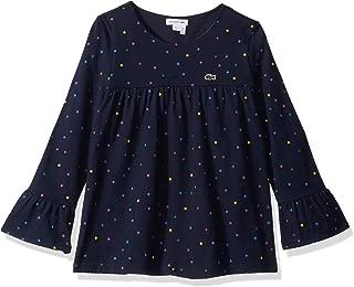 Girl Long Sleeve Printed Multico Dots Tee Shirt