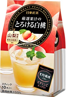 日東紅茶 厳選果汁のとろける桃 10P×6個