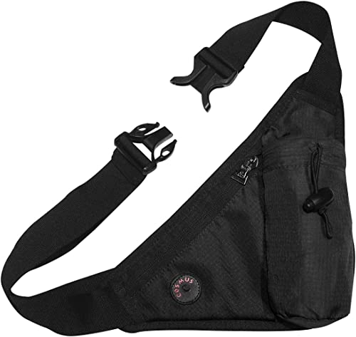 Waistline Waist Pouch Fanny Pack With Water Bottle Holder With Sanitizer Bottle Hook Black