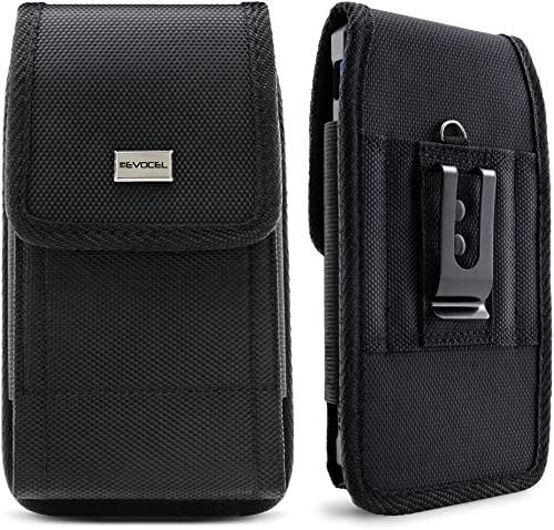 Evocel Urban Pouch Tactical Carrier with Belt Loop & Holster (6.1 in x 3.1 in x 0.37 in) Compatible with Galaxy J7, G...