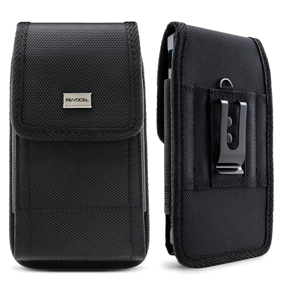 Evocel [Urban Pouch] Tactical Carrier with [Belt Loop & Holster] (6.5 in x 3.27 in x 0.37 in) Fits Galaxy Note 8, S8 Plus, Galaxy Mega, iPhone 7 Plus, ZTE ZMAX XL, ZTE Blade Z Max & More, X-Large ij7066297
