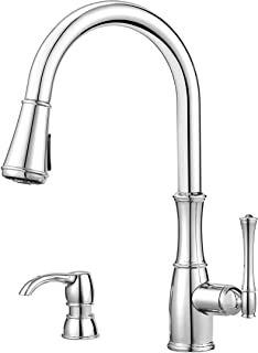 Pfister GT529WH1C Wheaton Single Handle Pull-Down Kitchen Faucet in Polished Chrome, 1.8 gpm