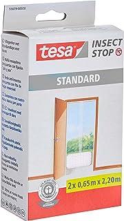tesa Insect Stop Standard Vliegenhor - Insectenhor voor deuren - Maak van jouw deur een hordeur met deze muggenhor - Wit, ...