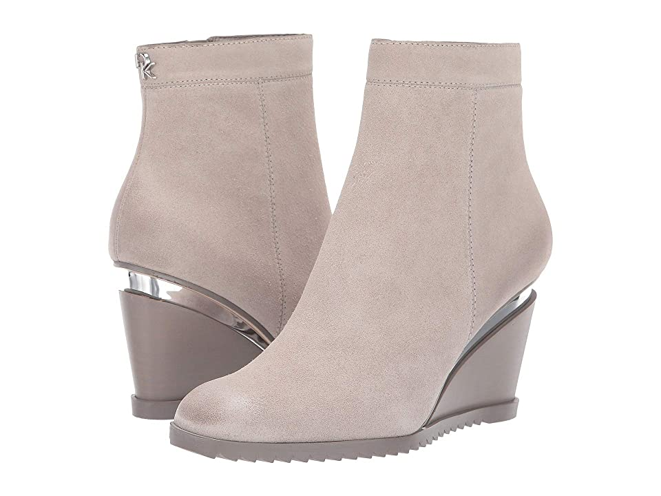 Donna Karan Dallas Wedge Bootie (Light Grey) Women
