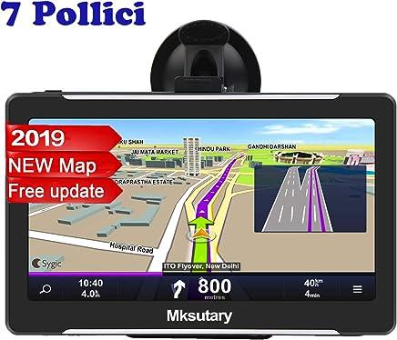 Mksutary GPS Auto Moto , Schermo Di Navigazione, LCD Touch Capacitivo, Memoria RAM Da 128 MB, ROM Da 8 GB, Mappa GPS Di 42 Paesi