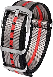 Watch Straps Seat Belt Nylon NATO Strap 18mm 20mm 22mm 24mm Heavy Duty Military Watch Band