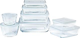 Pyrex® - Cook & Freeze - Lot de 8 plats de conservation en verre avec couvercles hermétiques - Spécial congélation - Sans BPA