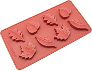 Freshware Silicone Mold, Chocolate Mold, Candy Mold, Ice Mold, Soap Mold for Chocolate, Candy and Gummy, Maple Leaves, 8-Cavity