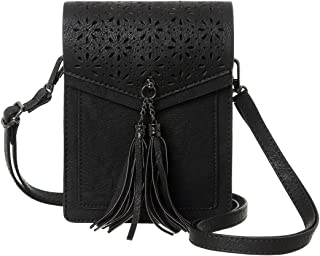 Fringe Thicher Pocket Small Crossbody Cell Phone Purse Wallet For Women With Credit Card Slots