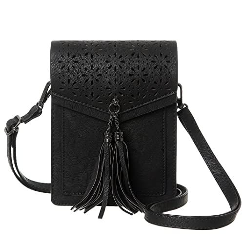 a4097d589e57 MINICAT Fringe Thicher Pocket Small Crossbody Cell Phone Purse Wallet For  Women With Credit Card Slots