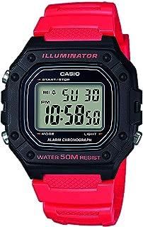 Casio Mens Quartz Watch, Digital Display and Resin Strap W-218H-4BVEF