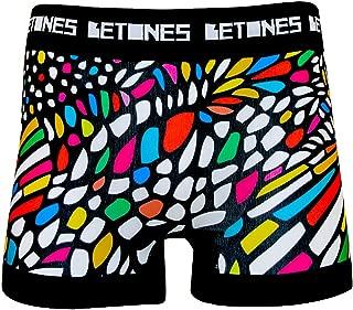 BETONES (ビトーンズ) メンズ ボクサーパンツ CHURCH dwearsステッカー入り ローライズ アンダーウェア ボーダー ブランド 男性 下着 誕生日 プレゼント