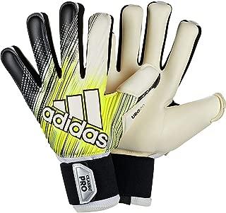 adidas Adult Classic Pro Soccer Goalkeeper Gloves (Black/Solar Yellow/White, 7)