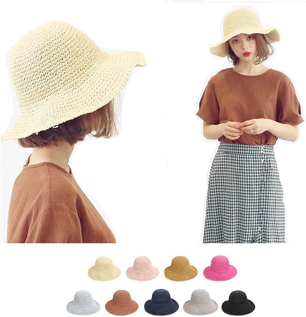 Sassy Pippi 【Korean Style】 Straw Hat Bucket Hat/Straw Panama Hat/Panama Cap/Straw Fedora Hat