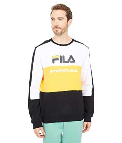 Fila Bravo Sweatshirt (White/Gold Fusion/Black) Men