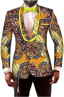 Men's Batik Cotton Premium Big & Tall Blazer Shawl Lapel Sport Coat Jacket