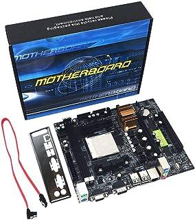 Kaemma N68 C61 Computadora de Escritorio Compatibilidad con la Placa Base para AM2 para la CPU AM3 Placa Base de Memoria DDR2 + DDR3 con 4 Puertos SATA2 (Color