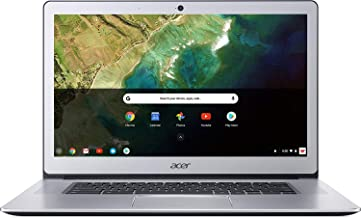"Acer Chromebook 15, Intel Celeron N3350, 15.6"" Full HD Touch, 4GB LPDDR4, 32GB Storage, Google Chrome, Pure Silver, CB515-1HT-C2AE, 15-15.99 inches"