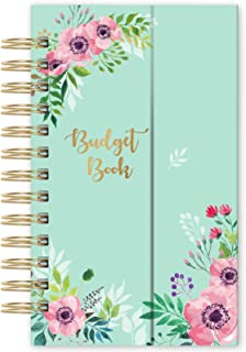 """Budget Planner - Undated Monthly Bill Organizer with Pockets, Expense Tracker Notebook, Compact Size 7.56"""" x 4.72"""" (Smalle..."""