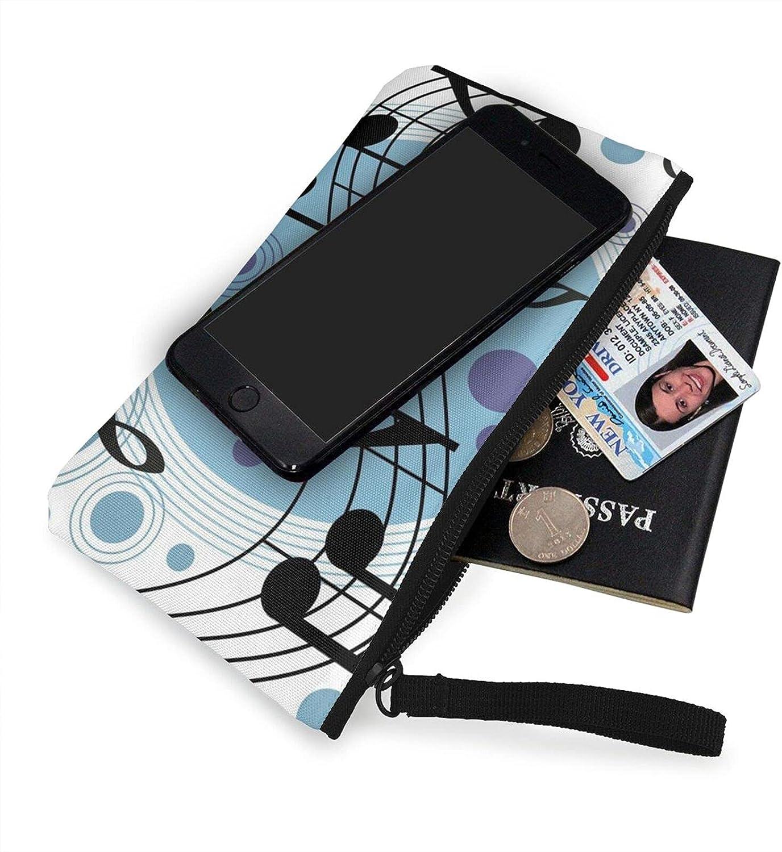AORRUAM Polka Dot Music note Canvas Coin Purse,Canvas Zipper Pencil Cases,Canvas Change Purse Pouch Mini Wallet Coin Bag