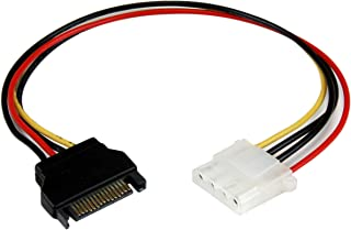 StarTech.com LP4SATAFM12 12-Inch SATA to Molex LP4 Power Cable Adapter, Black, Red, White, Yellow