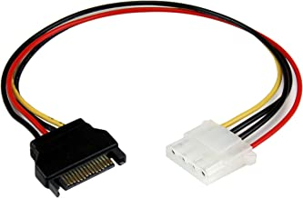 StarTech.com 12in SATA to LP4 Power Cable Adapter F/M - SATA to LP4 Power Adapter - SATA Female to LP4 Male Power Cable - 12 inch (LP4SATAFM12)