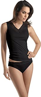 Hanro Women's 1486 Vest, Black (Black), X-Small (Manufacturer Size: XS)
