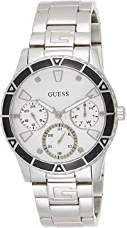 Guess Womens Quartz Watch, Analog Display and Stainless Steel Strap W1158L3