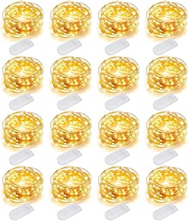 MJMIX Fairy Lights 16 Pack 10ft 30 LED Fairy String Lights Battery Operated (Included) Waterproof Copper Wire Starry Light...