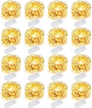 MUMUXI 16 Pack Fairy Lights Battery Operated (Included) 10ft 30 LED Mini String Lights Waterproof Copper Wire Firefly Star...