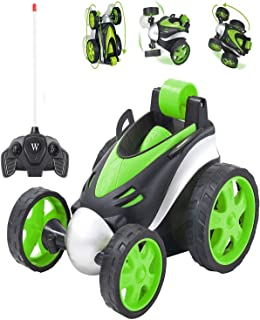 Remote Control Car RC Stunt Car for Boys Toys, 360 Degree Rotation Racing Car Xmas Gifts for Kids Girls,Including Battery (Green)