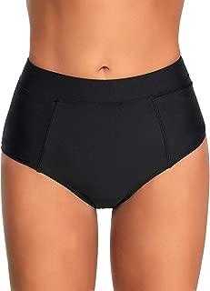 ACKKIA Women's Elastic Panel High Waist Full Coverage Bikini Tankini Swimsuit Bottom Briefs