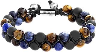Steve Madden Double Row Adjustable Slider Bracelet for Men in Stainless Steel