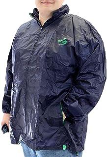 Duke D555 Mens Zac Big Tall Packaway Weather Proof Rain Jacket - Navy - 6XL