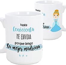 MUGFFINS Taza Madrina - hasta Cenicienta me envidia Porque Tengo la Mejor Madrina – Taza Desayuno/Idea Regalo Día de Pascua. Cerámica 350 mL